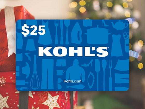Win It Wednesday 12-13: $25 Kohl's Gift Card sweepstakes