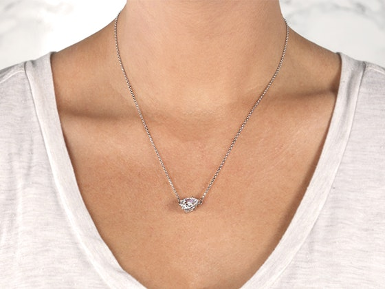 Diamond Nexus 1.71ct White Gold East-West Pear Necklace sweepstakes