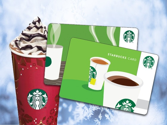 Flash 12-15: Starbucks Gift Card $20 sweepstakes