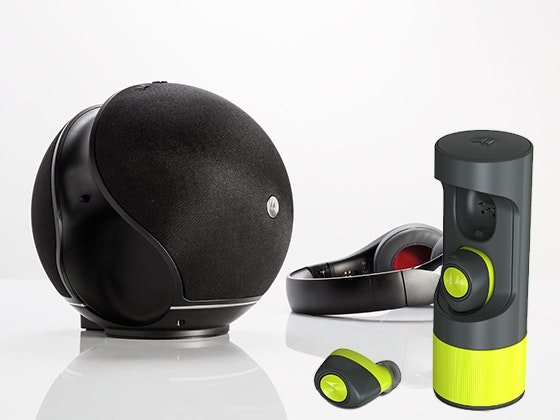 Motorola VerveOnes ME+ Wireless Earbuds plus a Motorola Sphere+ 2-in-1 Bluetooth® Speaker with Over-Ear Headphones sweepstakes