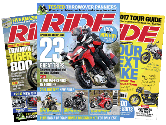 12 month subscription to RiDE Magazine sweepstakes