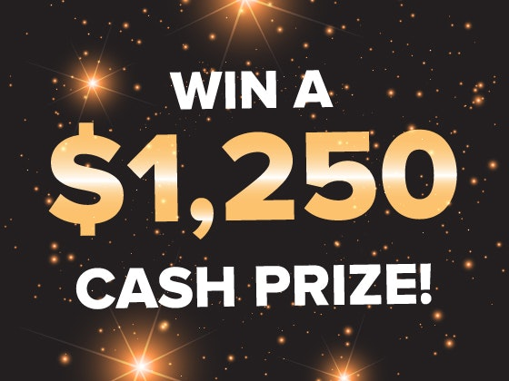 $1250 Cash January 2018 sweepstakes