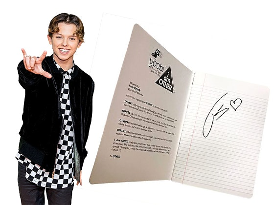 Jacob Sartorius' Signed Notebook sweepstakes