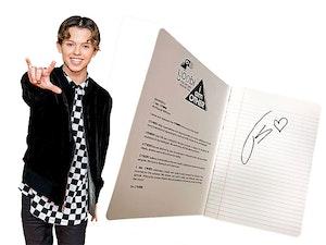 Jacob sartorius signed notebook giveaway
