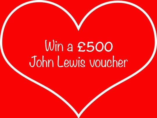£500 John Lewis gift card sweepstakes