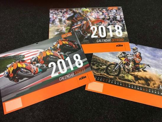 2018 KTM Calendar sweepstakes