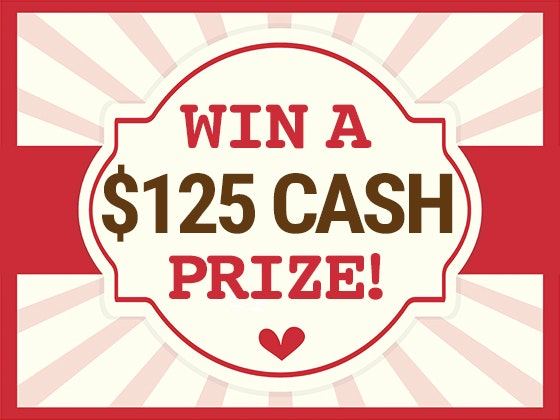 $125 Cash Prize January 2018 sweepstakes