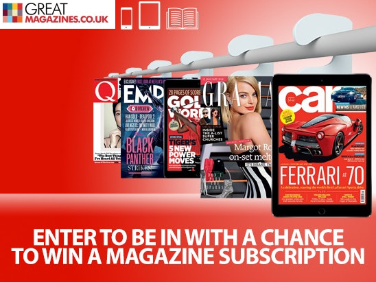 Win an annual magazine subscription sweepstakes