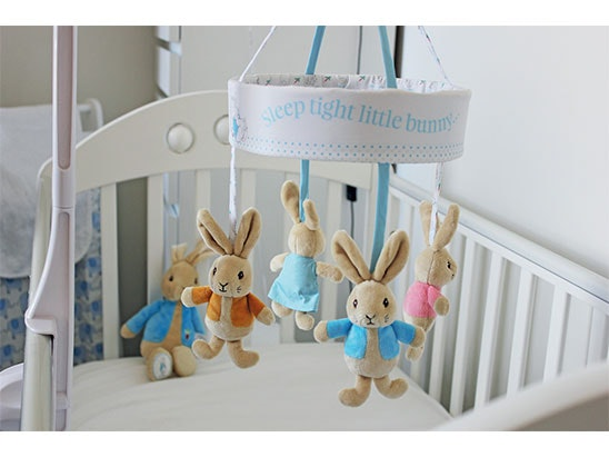 PETER RABBIT COT MOBILES  sweepstakes
