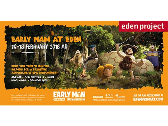 WIN A FAMILY ADVENTURE TO THE EDEN PROJECT & 4* HOTEL STAY WITH EARLY MAN sweepstakes