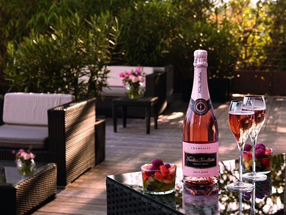 Exterieur  brut rose   flutes   fruits