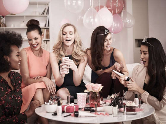 Mary kay motiv beauty party valentinstag