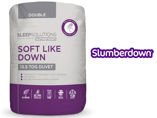 a Slumberdown Soft Like Down bedding bundle sweepstakes