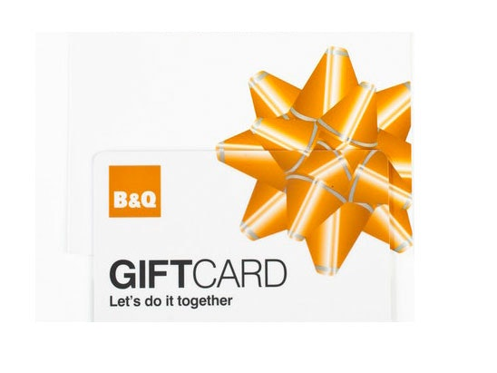 B&Q card sweepstakes