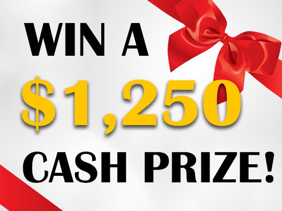 $1250 Cash February 2018 sweepstakes