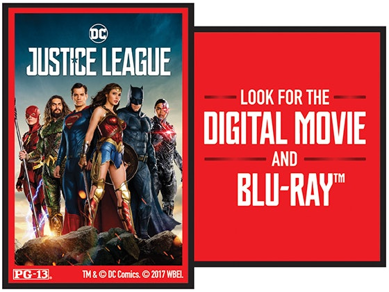 """Justice League"" on Digital sweepstakes"