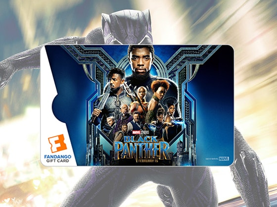 Black Panther Fandango Gift Cards sweepstakes