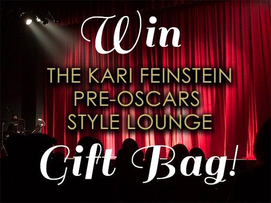 Kari feinstein oscars lounge giveaway 1