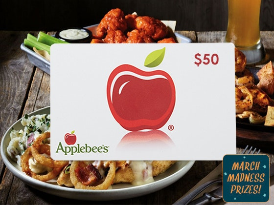 March Madness 2018 #1: $50 Applebees Gift Card sweepstakes