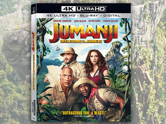 Jumanji: Welcome to the Jungle on Blu-ray and Digital sweepstakes