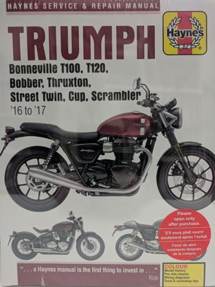 Triumph Haynes Manual sweepstakes