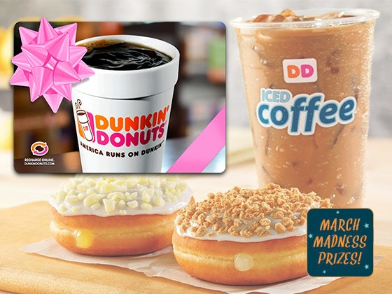 Dunkin donuts giftcard marchmadness18 giveaway