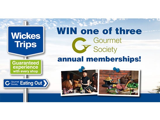 Gourmet Society sweepstakes