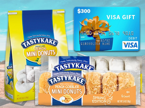 Year's Supply of Tastykake Treats & a $300 Visa Gift Card sweepstakes