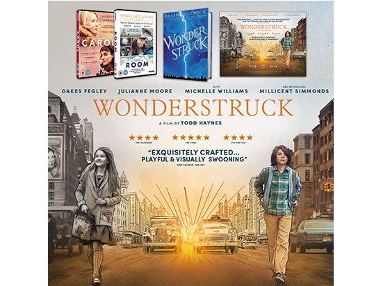 3 x Bundle (Wonderstruck Quad Poster, 'Wonderstruck' Book, DVD copies of CAROL and ROOM) sweepstakes