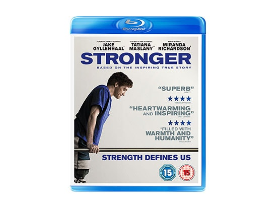 x4 winners: One (x1) Stronger poster sign by Jake Gyllenhaal, One (x1) Stronger on Blu-ray ™ and One (x1) Stronger novel. sweepstakes