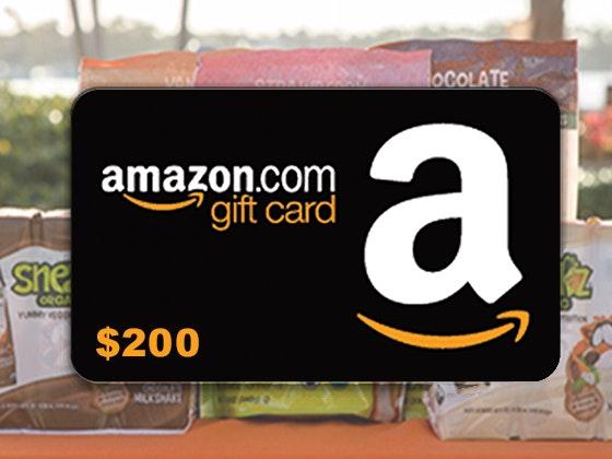 Sneakz organic amazon giftcard giveaway 2
