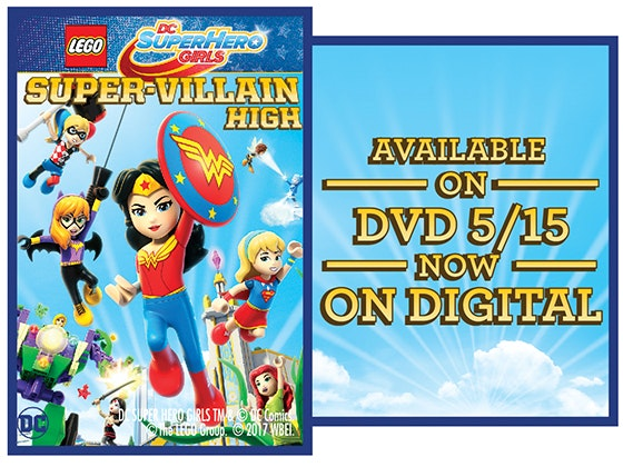 Lego dc super hero girls super villan high dvd giveaway
