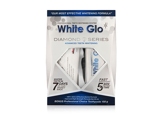 Teeth whitening bundle including: 2 x Coffee & Tea Drinkers Formula Toothpaste, 3 x Bright Lights Whitening Strips, 6 x Diamond Series System. sweepstakes