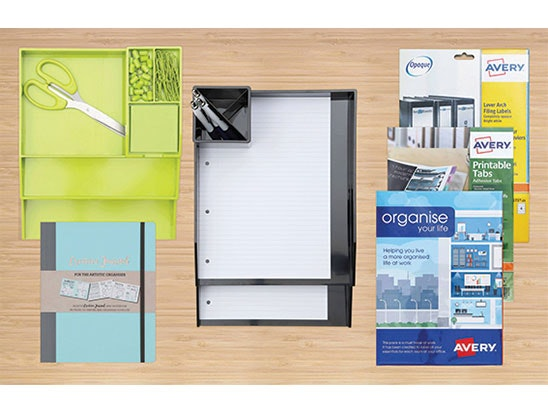 1 x Colorstak Deskset 1 x Colorstak Lettertrays 1 x Colorstak Pen pot 1 x Organising & Filing Labels pack 1 x Filing labels L7171 1 x  Printable coloured tabs 1 x Journal     sweepstakes