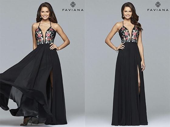 Faviana prom dress style 100000 giveaway