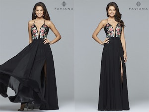 Faviana prom dress style 100000 giveaway