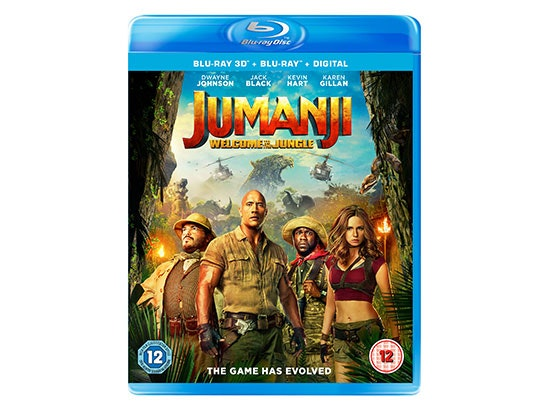 5 X Copies of Jumanji on Blu-Ray sweepstakes