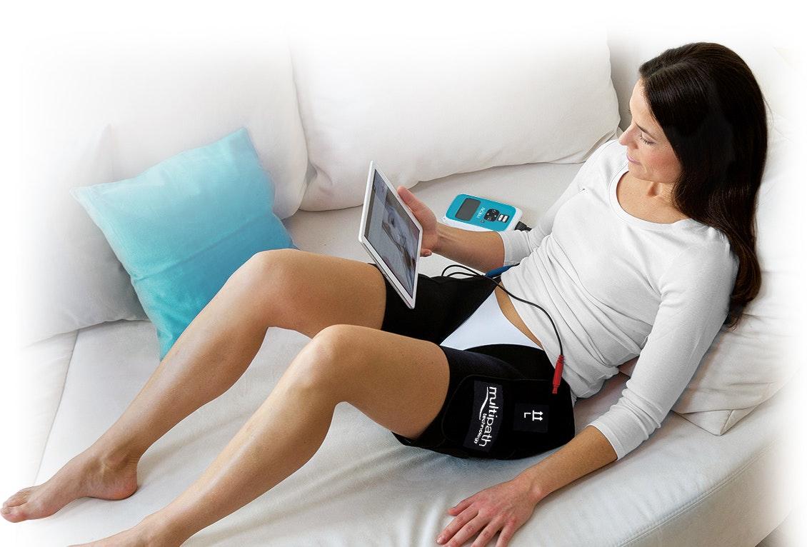 Woman using device 2