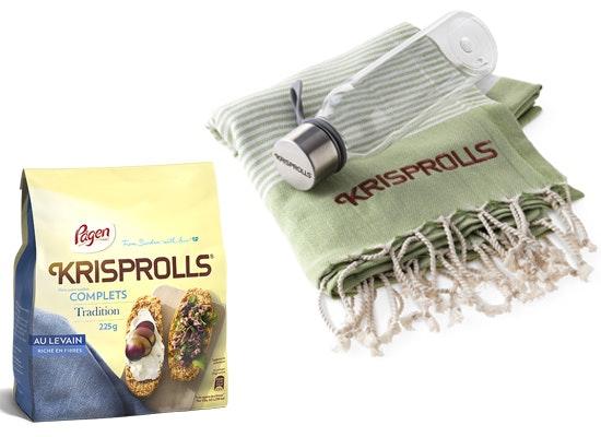 jeu concours Remportez 1 fouta, 1 gourde et 1 paquet des nouveaux Krisprolls !