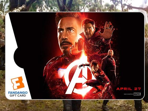 Avengers: Infinity War Fandango Gift Cards sweepstakes