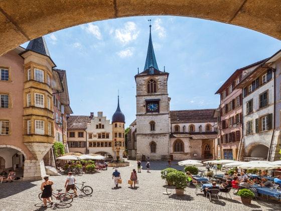 Weinberge und See in der Schweiz Gewinnspiel