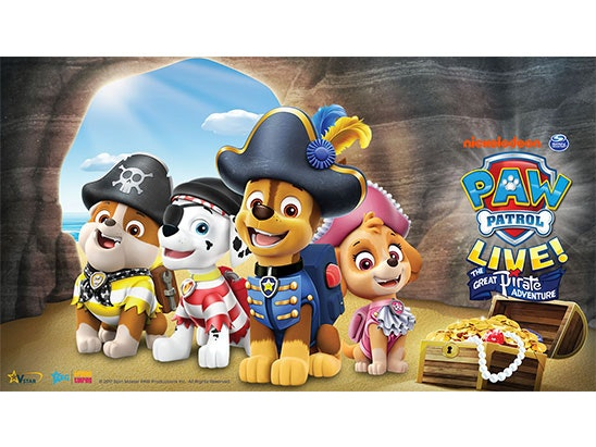 Paw Patrol Live sweepstakes