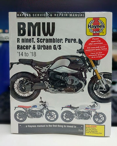 Haynes manual - BMW R nine T sweepstakes