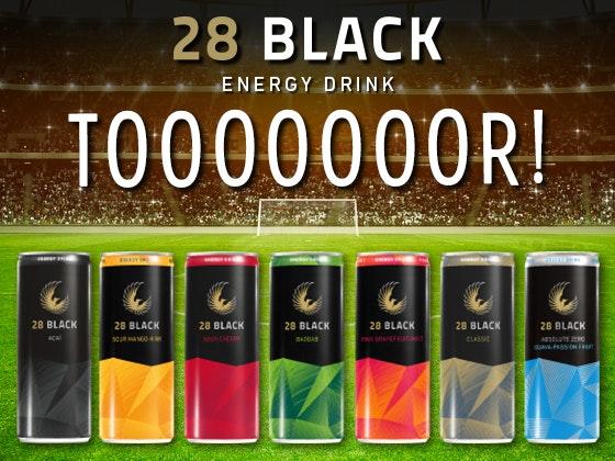 Partyvorrat von 28 BLACK Gewinnspiel