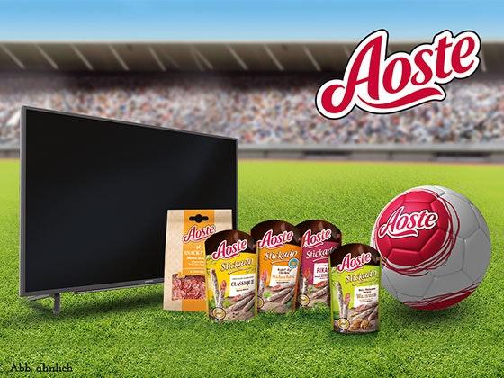 Aoste verlost TV und Snack-Paket Gewinnspiel