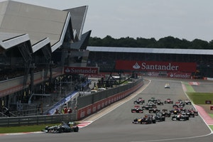 Start of the 2013 formula 1 santander british grand prix