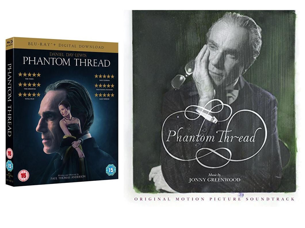 "PHANTOM THREAD DVD on Blu-ray + Limited Edition 12"" Vinyl Soundtrack. sweepstakes"