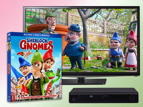 Sherlock Gnomes on Blu-ray Combo Pack + an HDTV and Blu-ray Player sweepstakes