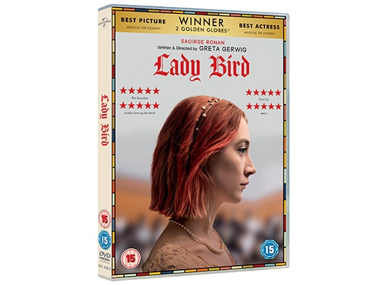 LADY BIRD on DVD and badge sweepstakes