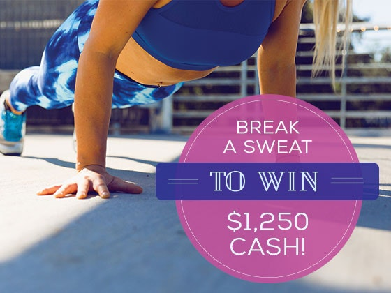 $1250 Cash July 2018 sweepstakes